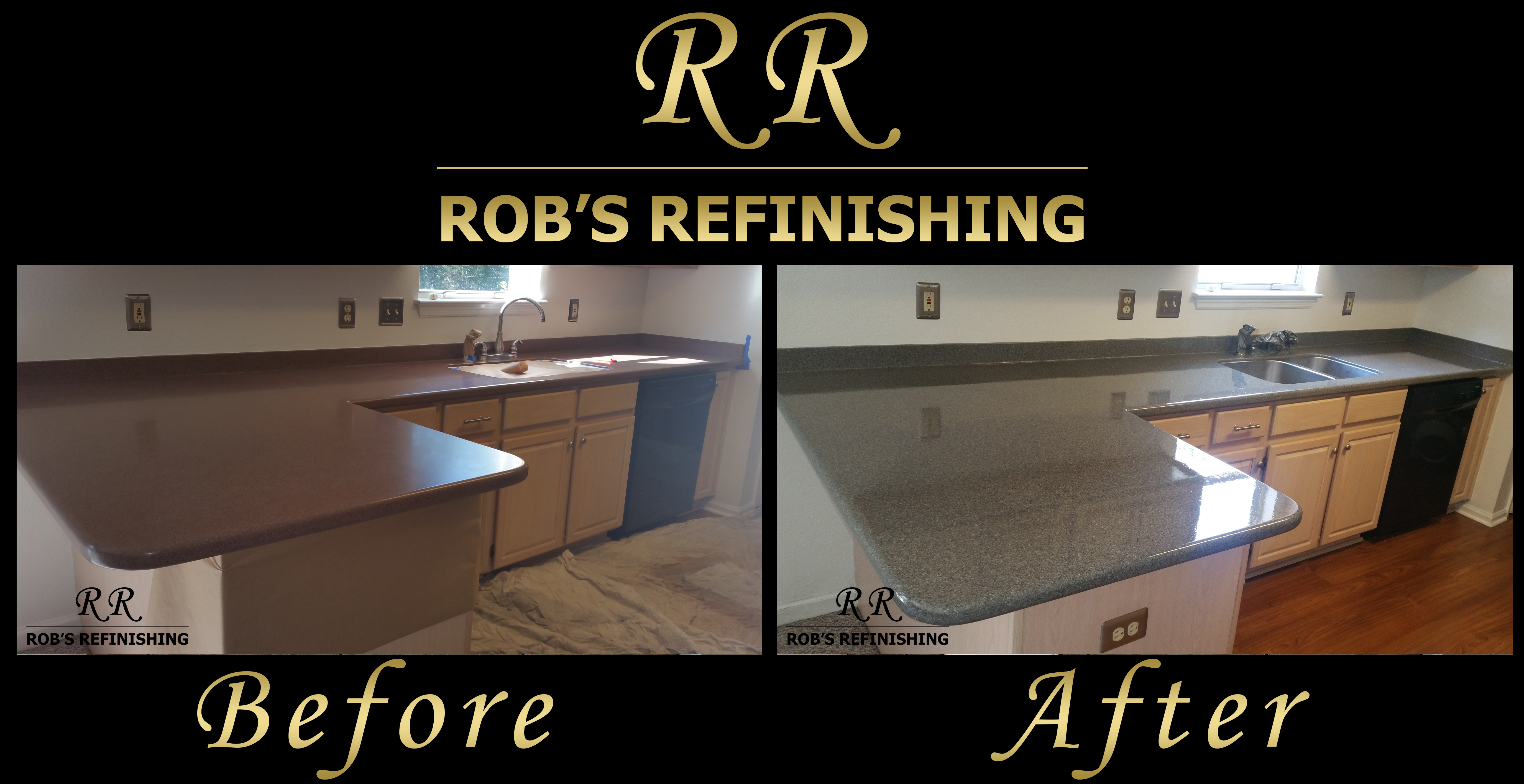 countertop bathroom refinishing before photos after kitchen counter